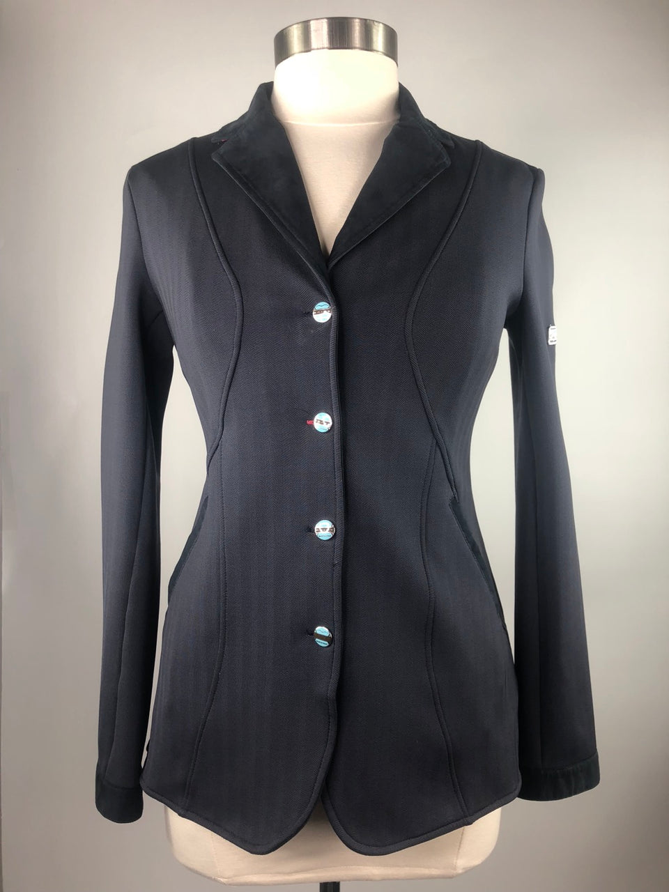 Animo Show Jacket in Grey w/Navy - Women's IT 44