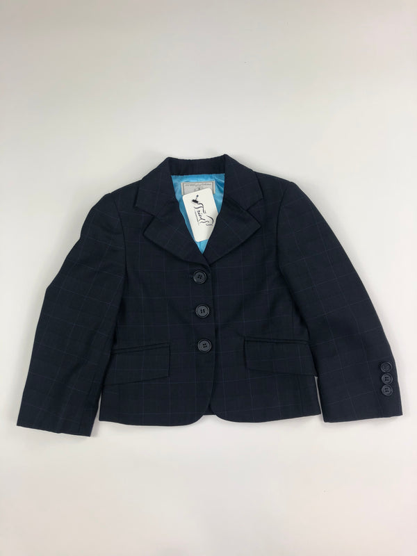 The Wellington Collection Hunt Coat in Navy Check  - Children's 2R
