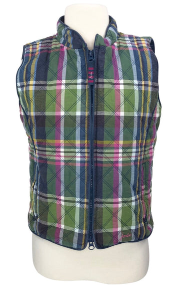 Joules Junior Minx Quilted Vest in Multi Plaid - Age 9-10