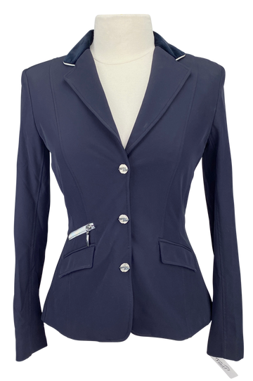 Front of Euro-Star Olympia Show Jacket in Navy - Women's Small