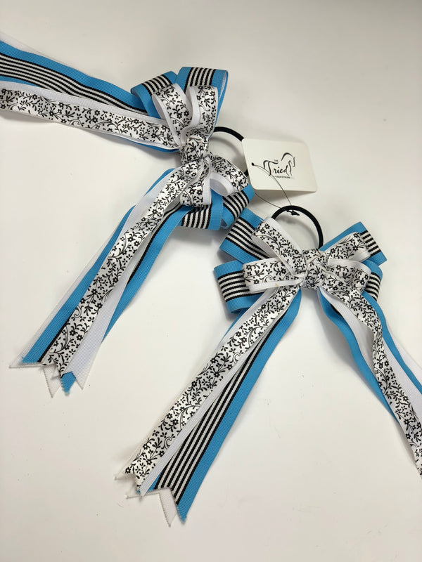 Show Bows in Blue/Black/White - One Size