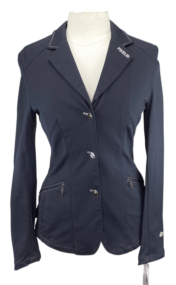 Front of Pikeur Shannon Women's Show Jacket in Black - Women's Large