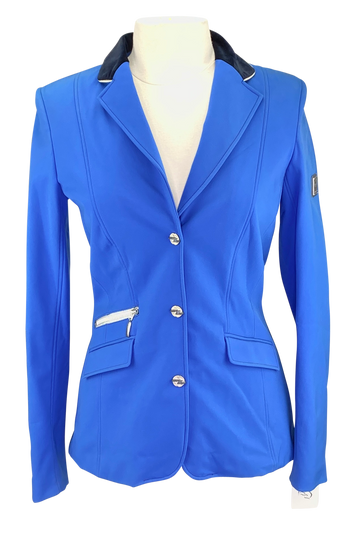 Front of Euro-Star Olympia Show Jacket in Royal Blue - Women's Medium