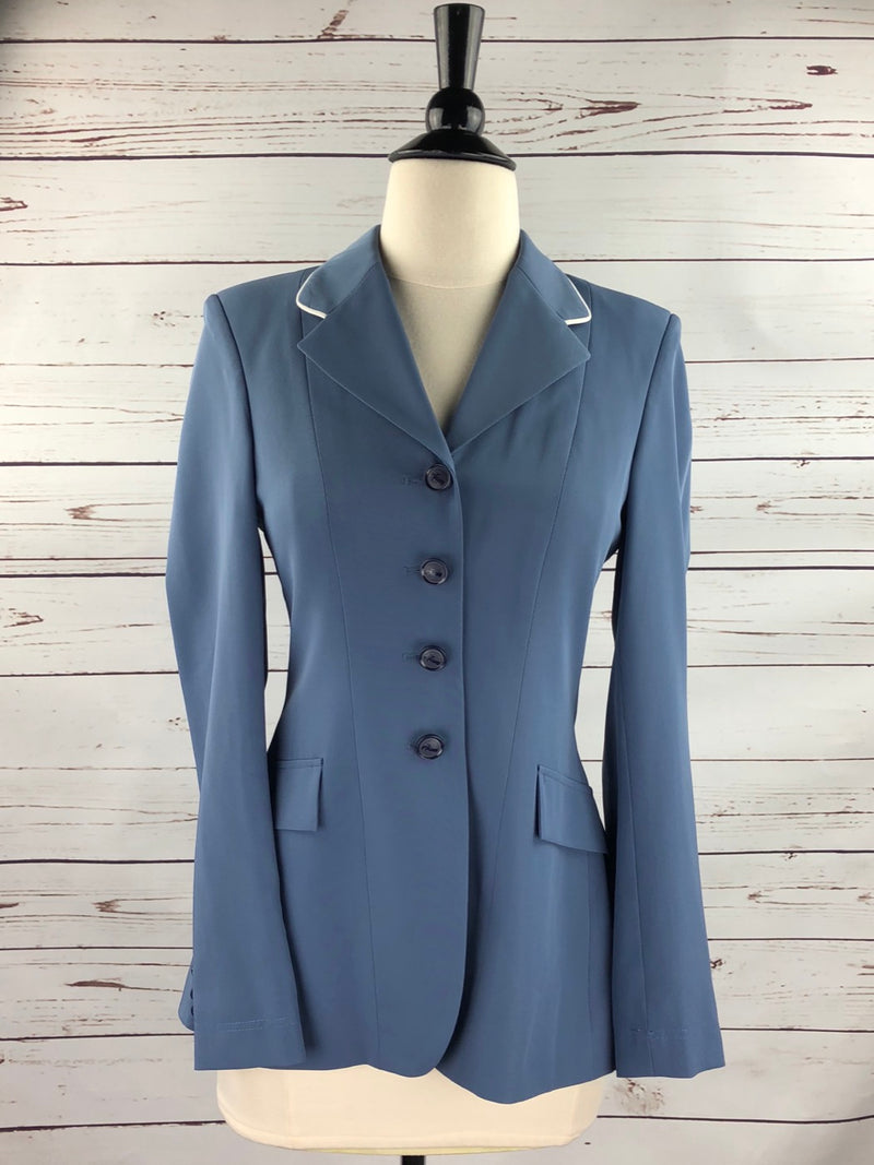 Grand Prix TechLite Show Jacket in French Blue/Oyster Piping - Women's 8R (US 2R)