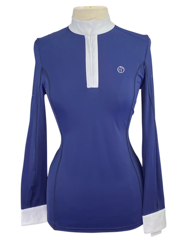 Front of Kathryn Lily Competition Shirt in Navy - Women's Medium