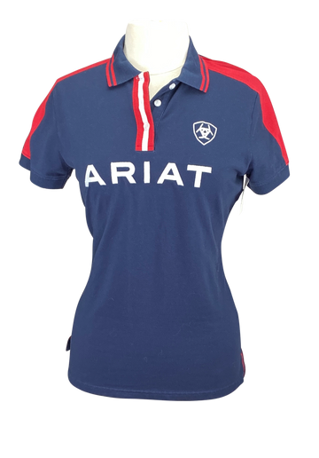 Front of Ariat Team Polo in Navy - Women's Large