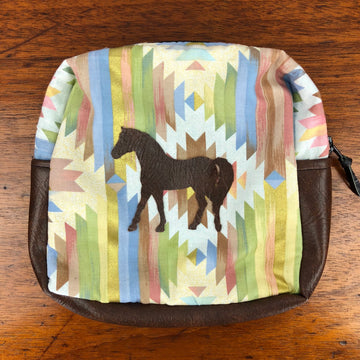 Spiced Equestrian Southwest Zip Makeup Bag in Multi - One Size