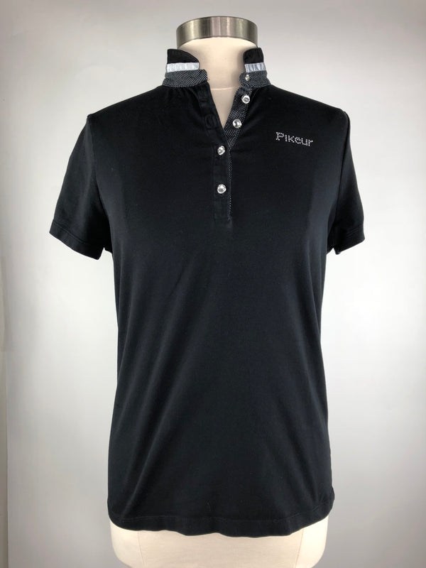 Pikeur Nele Polo Shirt in Black - Women's Ger 42/Large