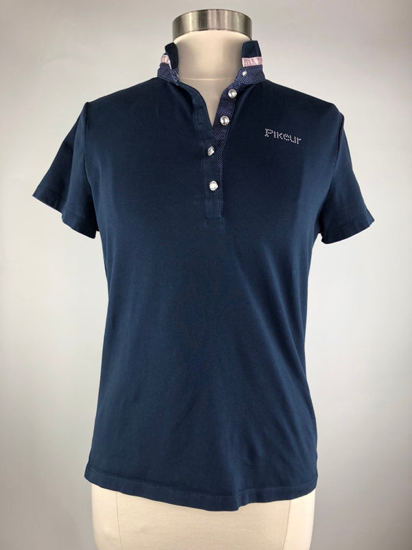 Pikeur Nele Polo Shirt in Navy - Women's Ger 42/Large
