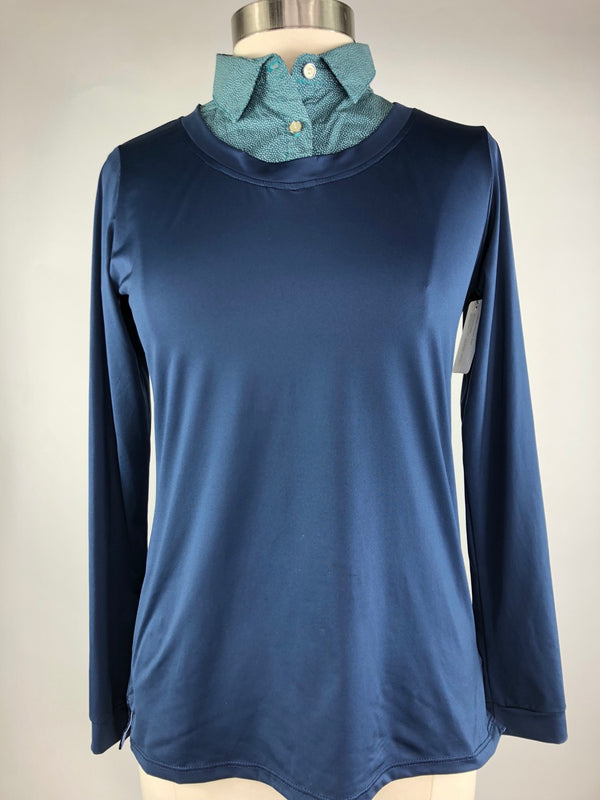 Callidae Practice Shirt in Navy/Evergreen Hash - Women's Large