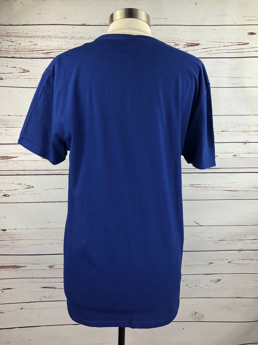 Spiced Equestrian Dressage Tee in Blue - Unisex Large