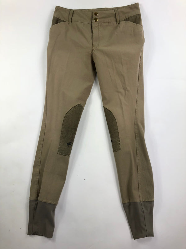 Equine Couture Sportif Breeches in Tan - Children's 16