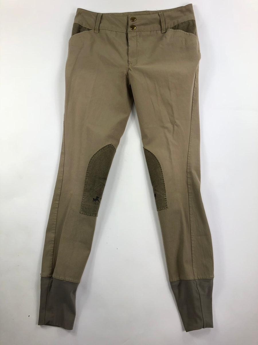Equine Couture Sportif Breeches in Tan -  Front View