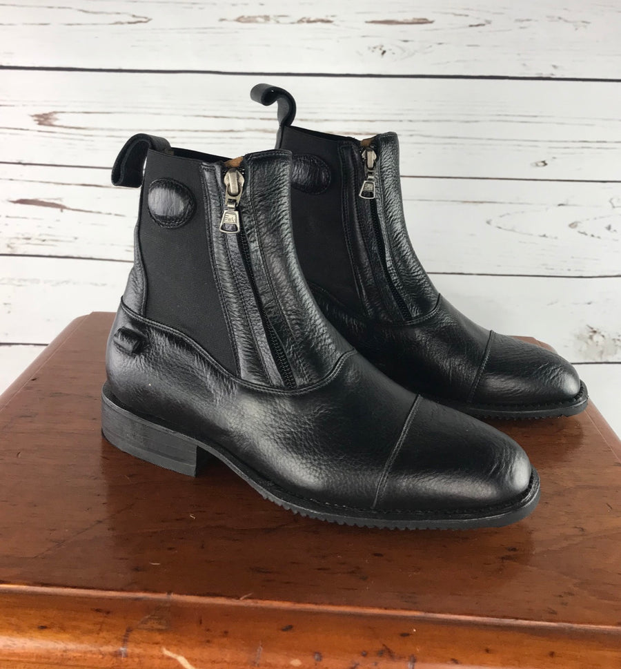 DeNiro T03 Paddock Boots in Black - Outside View