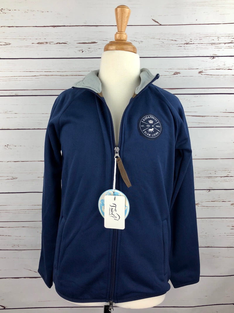 Horze Kendall Fleece Jacket in Navy - Children's Medium