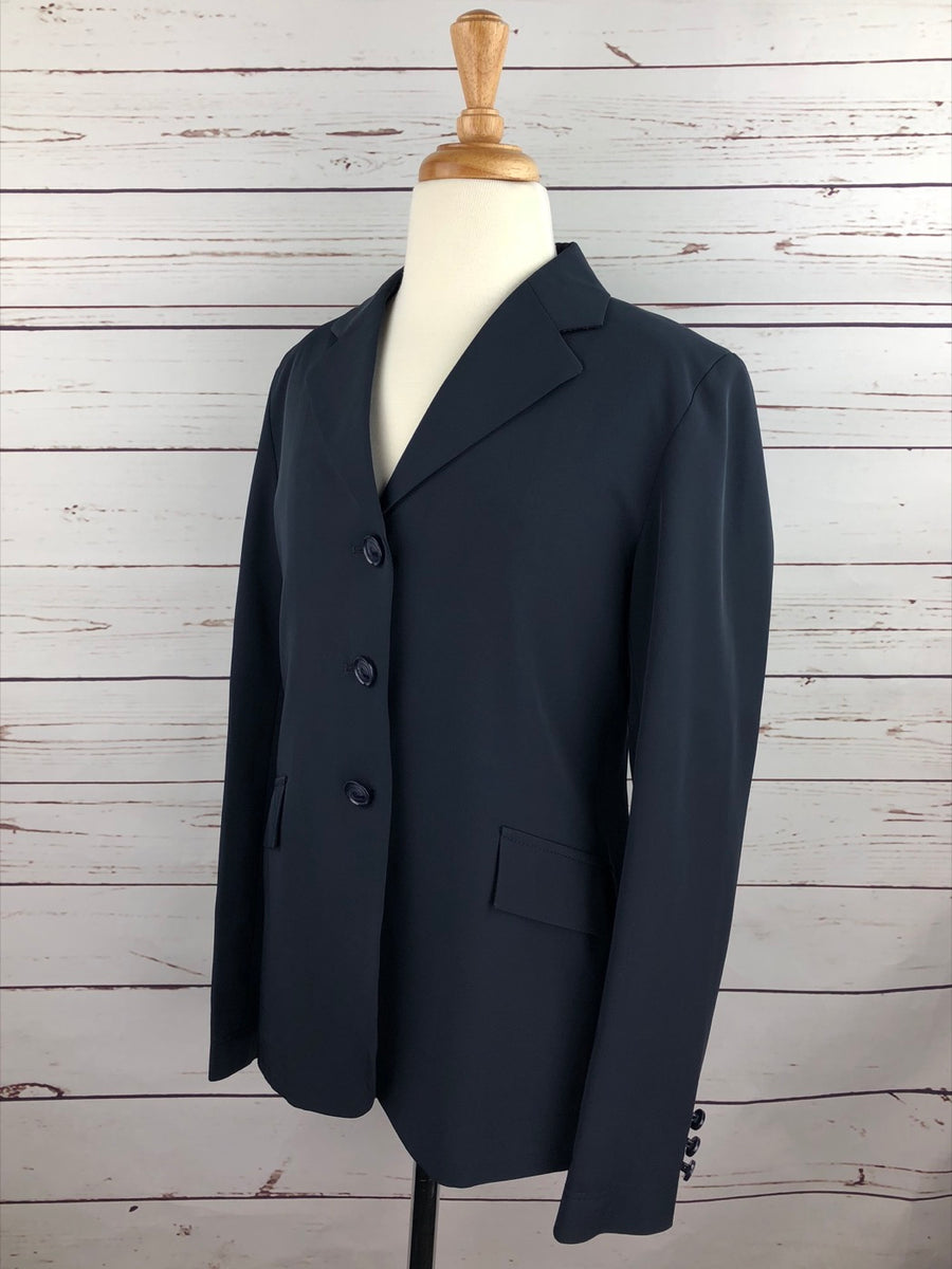 Grand Prix TechLite Hunt Coat in Navy - Left Side View