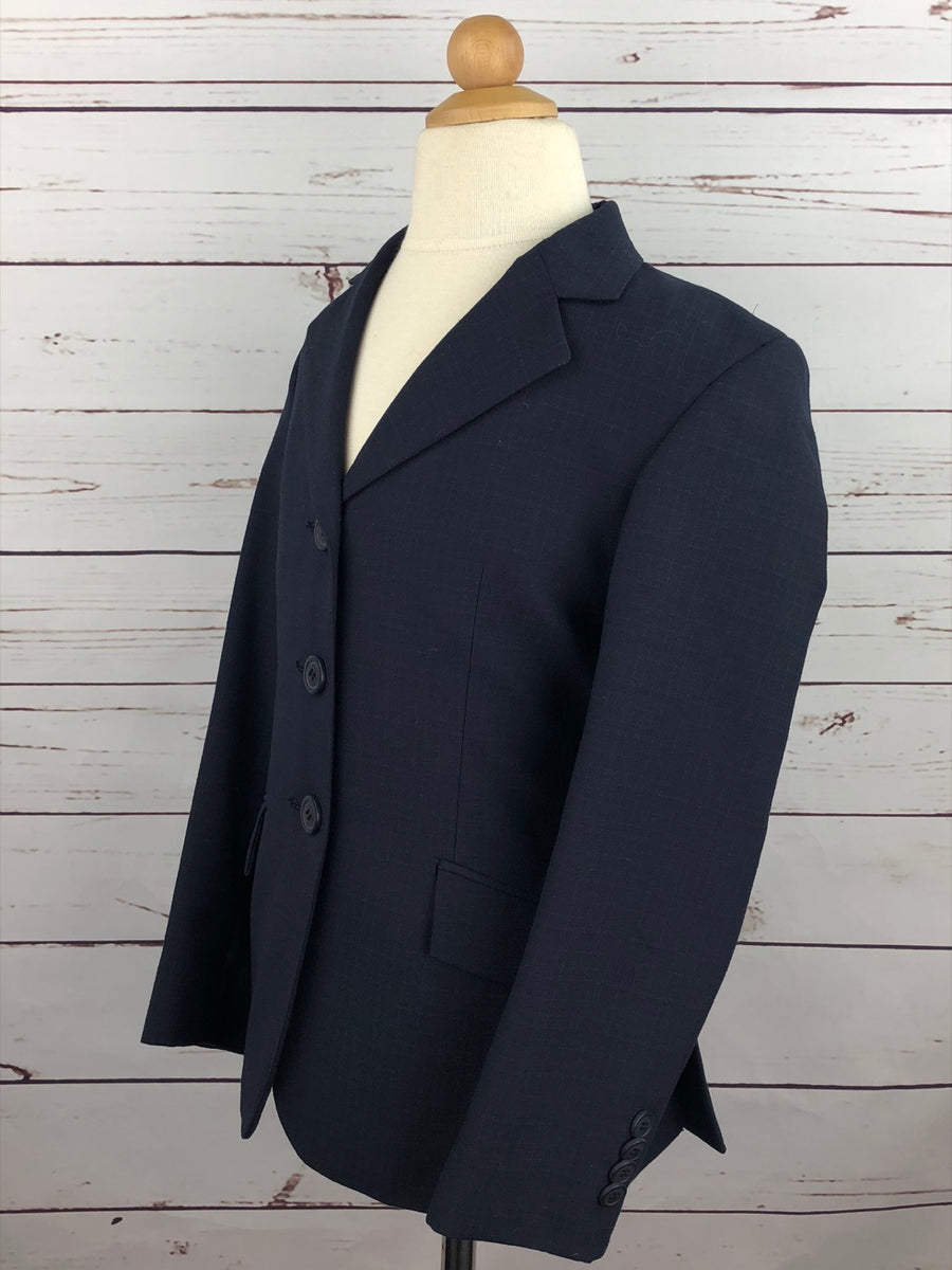 RJ Classics Essential Hunt Coat in Navy - Left Side View
