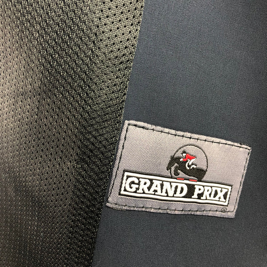 Grand Prix TechLite Hunt Coat in Grey/White - Logo View