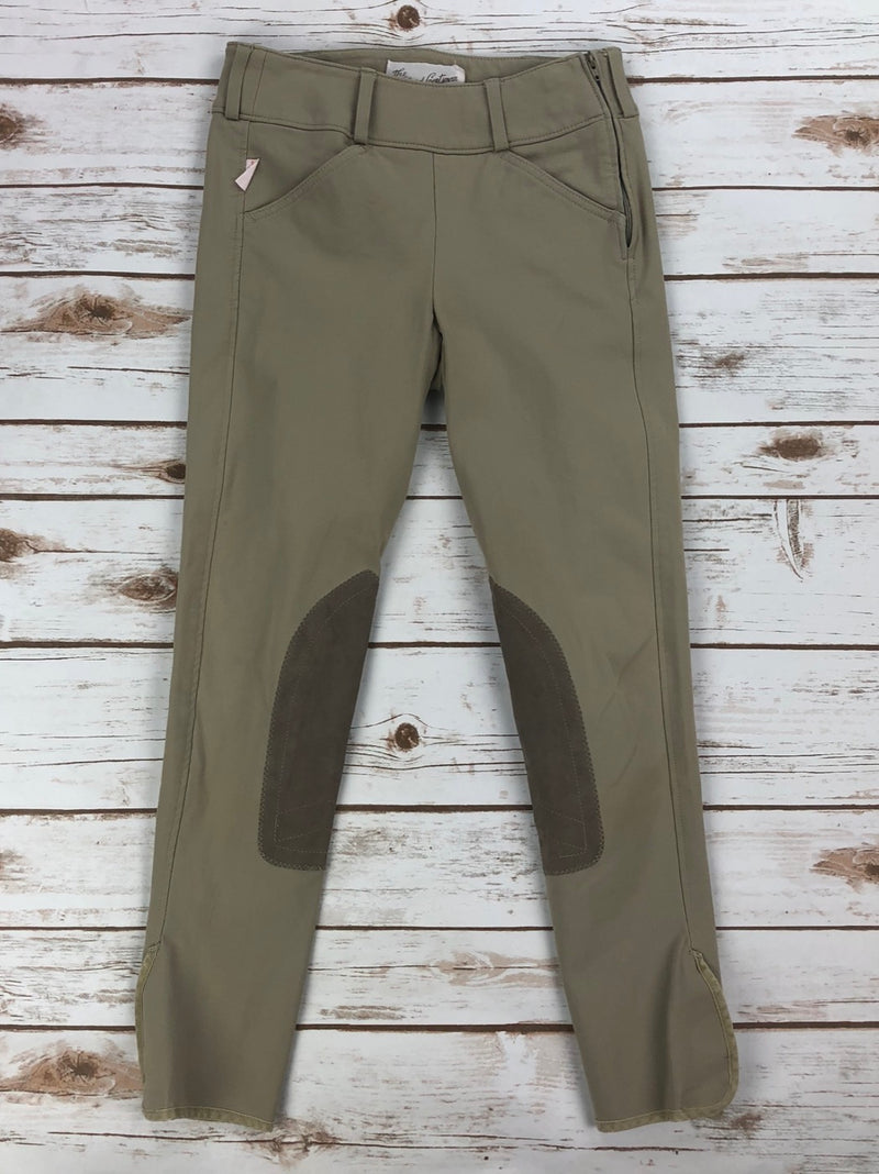 The Tailored Sportsman Trophy Hunter Side-Zip Breeches in Tan - Children's 12R
