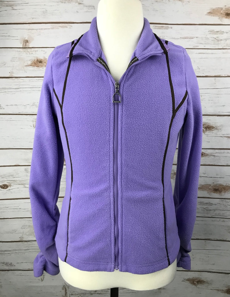 Ariat Fleece Zip Jacket in Purple - Children's 10