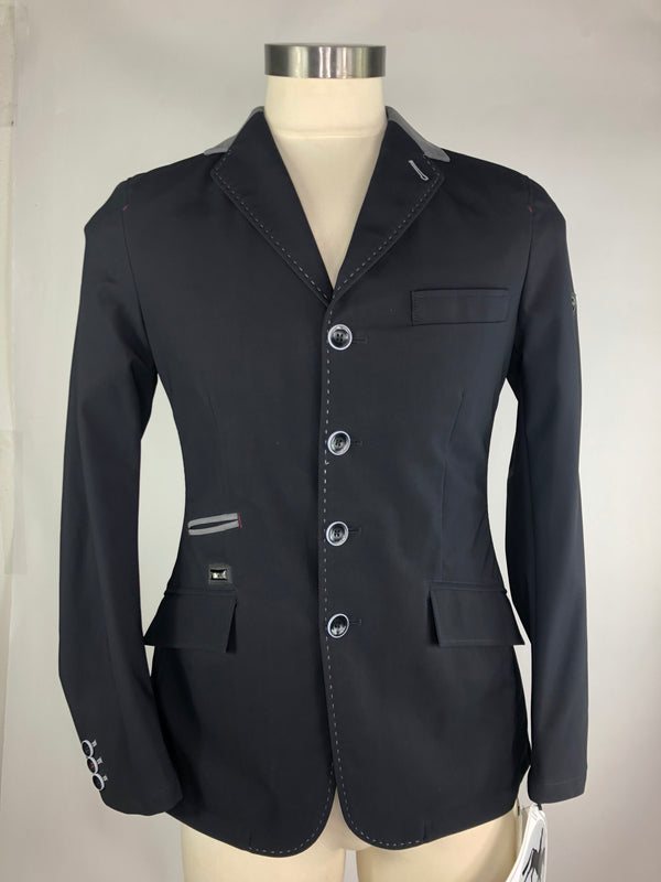 Pikeur Grasco Show Jacket in Black/Grey Collar - Men's US 38R