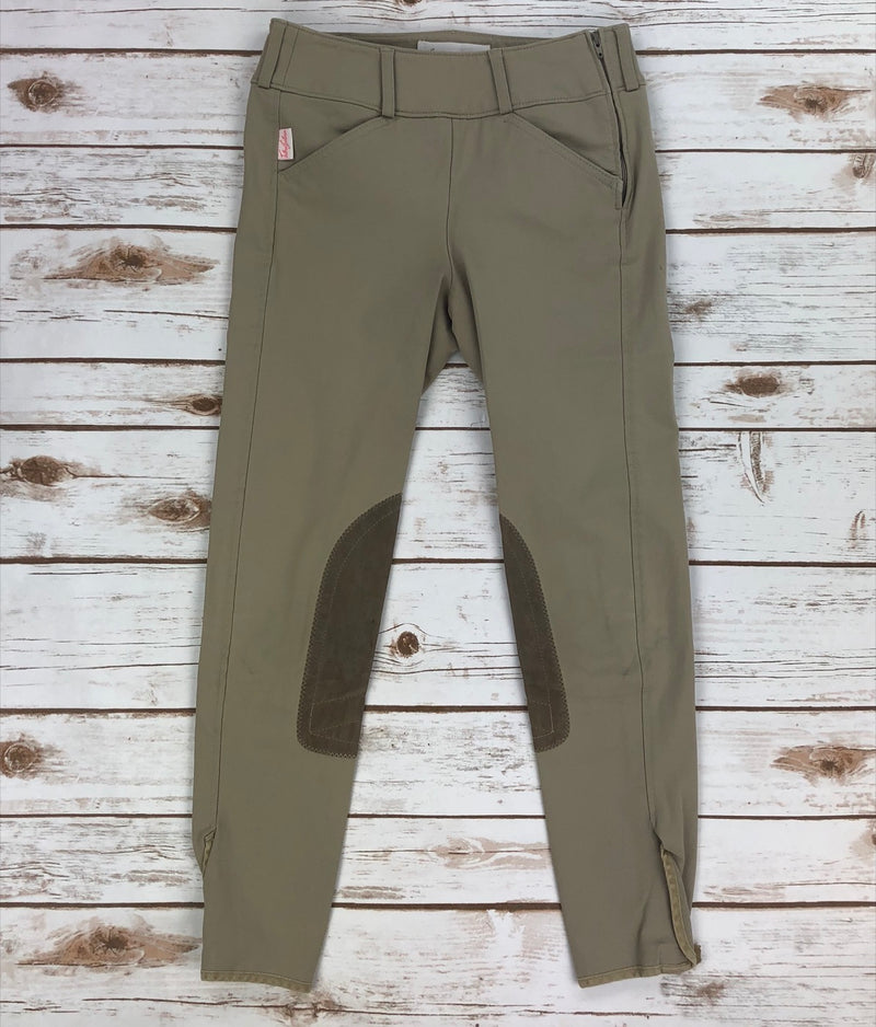Tailored Sportsman Trophy Hunter Side Zip Breeches in Tan - Children's 12R