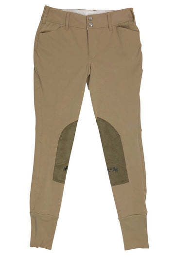 NWT Equine Couture Coolmax Champion Breeches in Safari/Taupe - Children's 14 | L