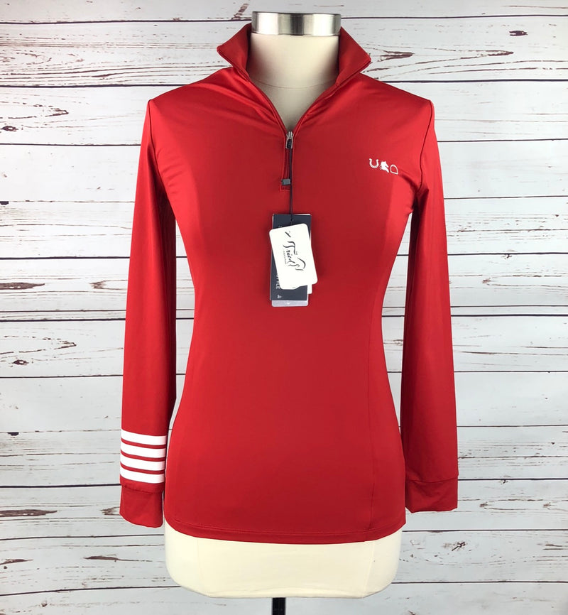 Sport Horse Lifestyle Orleen Sun Shirt in We Didn't Go to Harvard (Red) - Women's Medium