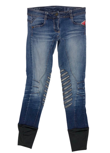 Front view - Animo Denim Breeches in Indigo - Women's IT 38 (US 24) | XS/S