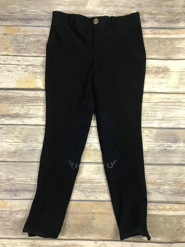 TuffRider Ribb Low Rise Pull-On Breeches in Black - Children's 10