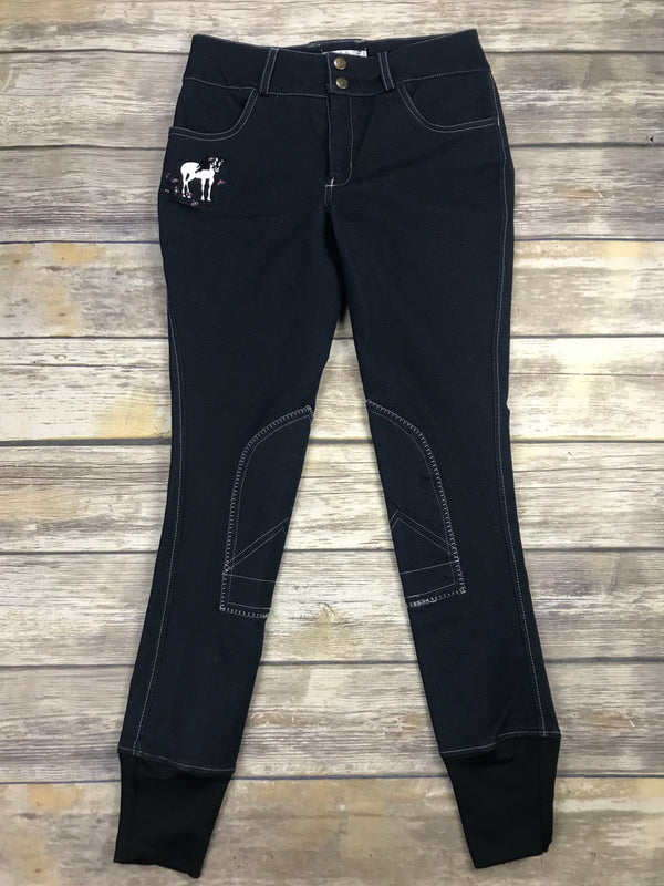 TuffRider Daisy Breeches in Navy Denim - Children's 14R