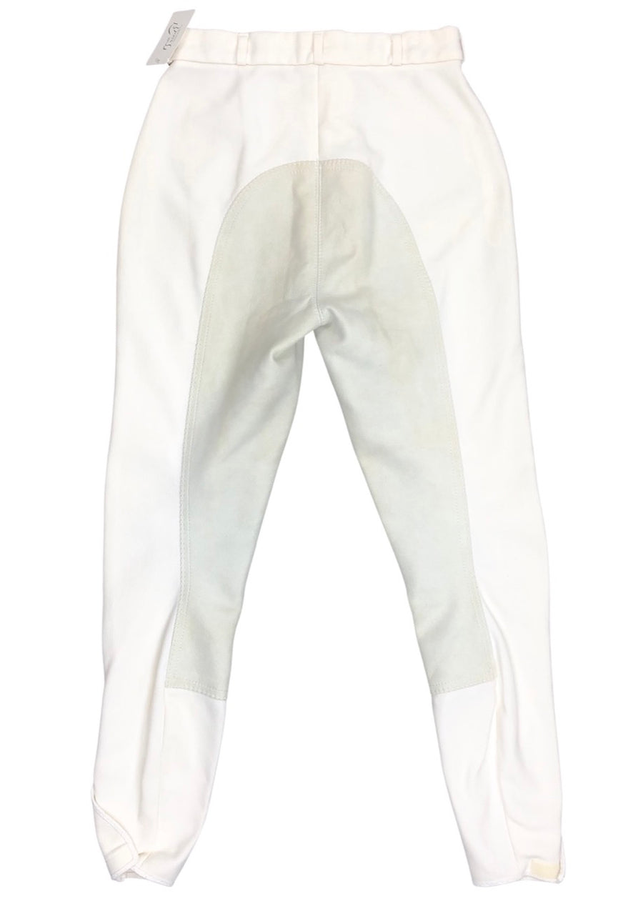 Pikeur Ribbed Full Seat Breeches in White - Women's 26 | S