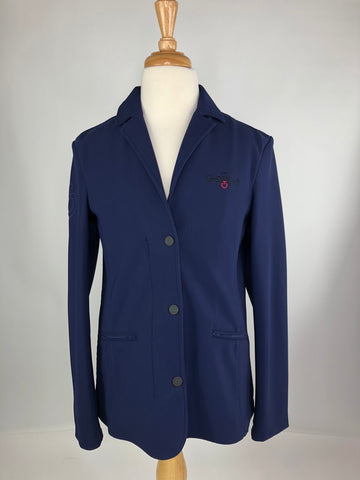 Cavalleria Toscana Competition Jacket in Blue -  Front View