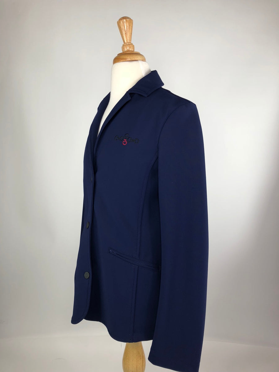 Cavalleria Toscana Competition Jacket in Blue -  Left Side View