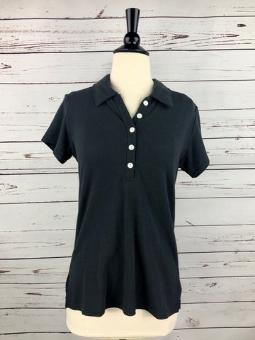 Jerico Bamboo Polo in Charcoal - Front View