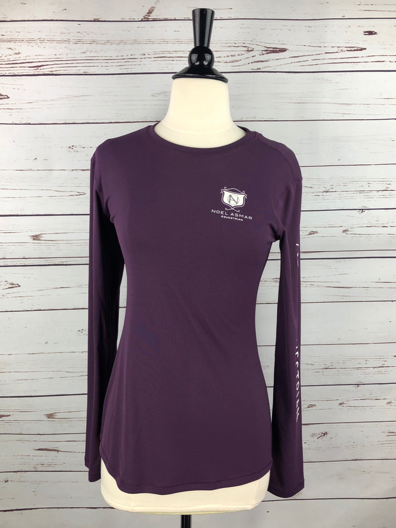 Asmar Equestrian AE Logo Long-Sleeved Tee in Plum - Women's Small