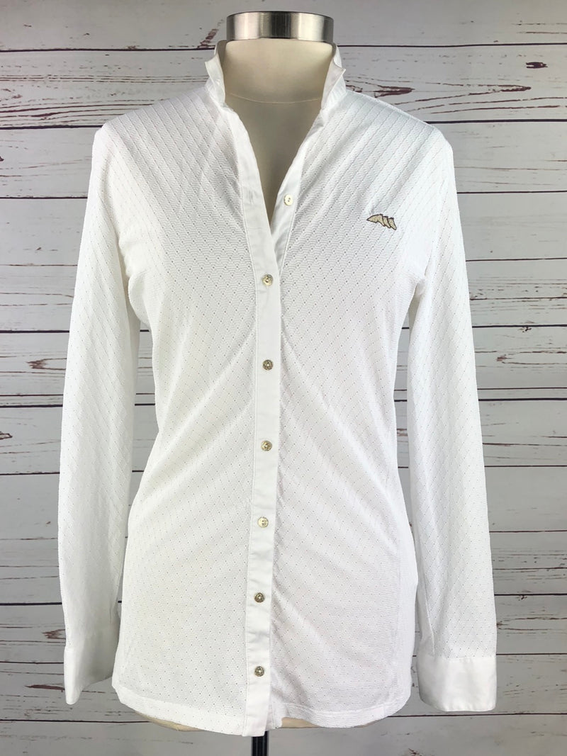 Equiline Alice Competition Shirt in White - Women's IT 48