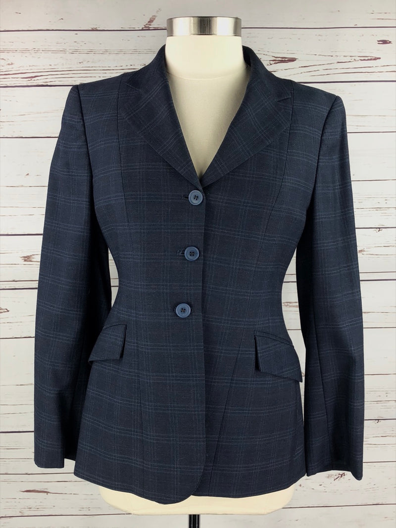 RJ Classics Prestige Hunt Coat in Navy Plaid - Women's 8R