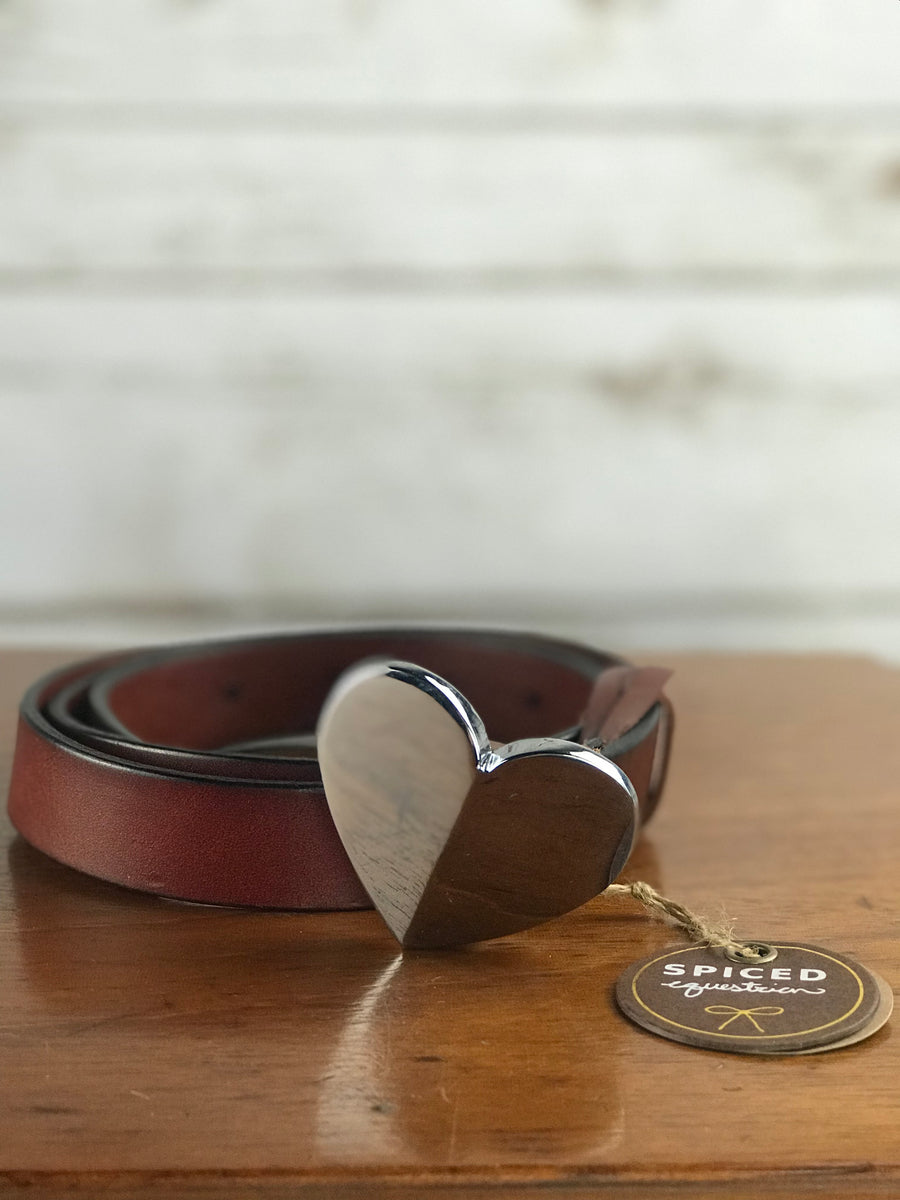 NWT Spiced Equestrian Bianca Belt in Brown - Women's M