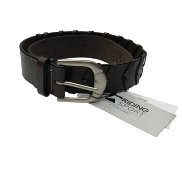NWT Riding Sport Laced Belt in Dark Chocolate - Women's 26
