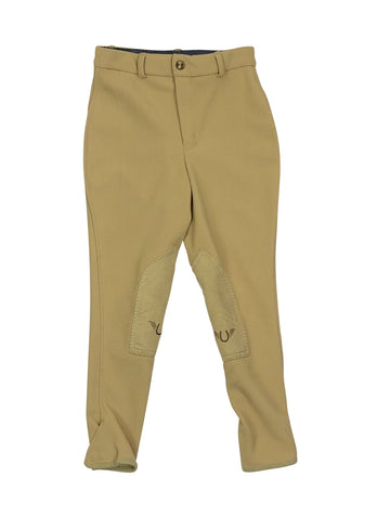 TuffRider Low Rise Ribb Breeches in Light Tan - Children's 10 | M