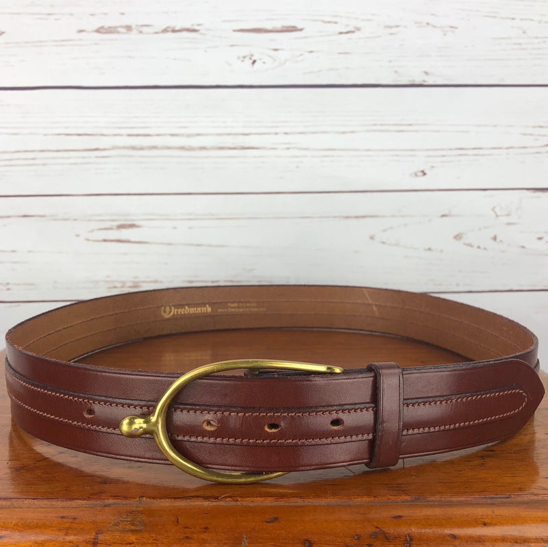Freedman's Overlay Spur Buckle Belt in Cognac - Size 36