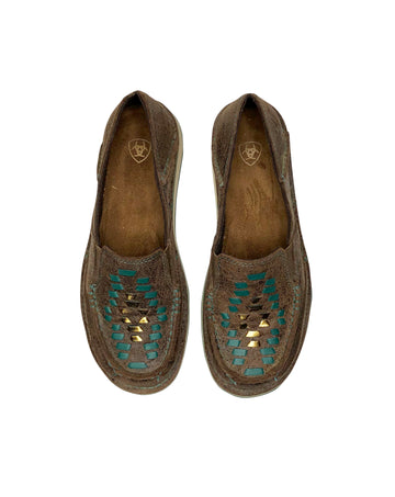 Ariat Cruiser Weave Slip Ons in Brown Rebel - Women's US 5.5