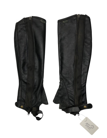 Rectiligne Half Chaps in Black - Women's XS