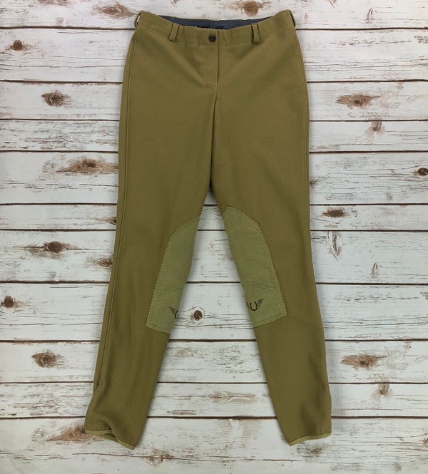 TuffRider Ribb Low Rise Pull On Breeches in Tan - Women's 28