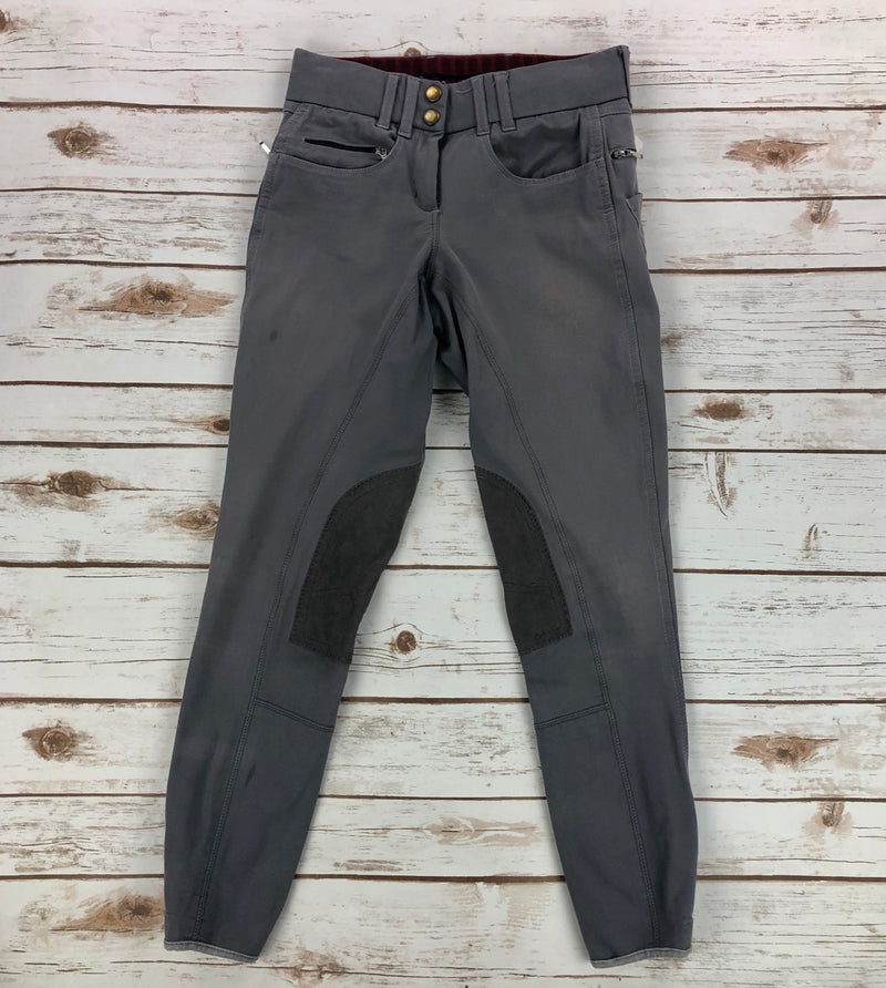 Grand Prix Knee Patch Breeches in Grey - Women's 24L