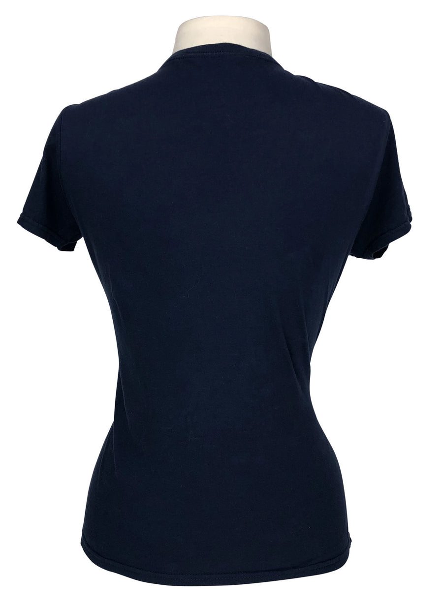 back view of Dressage Heartbeat Love T-Shirt in Navy - Women's M