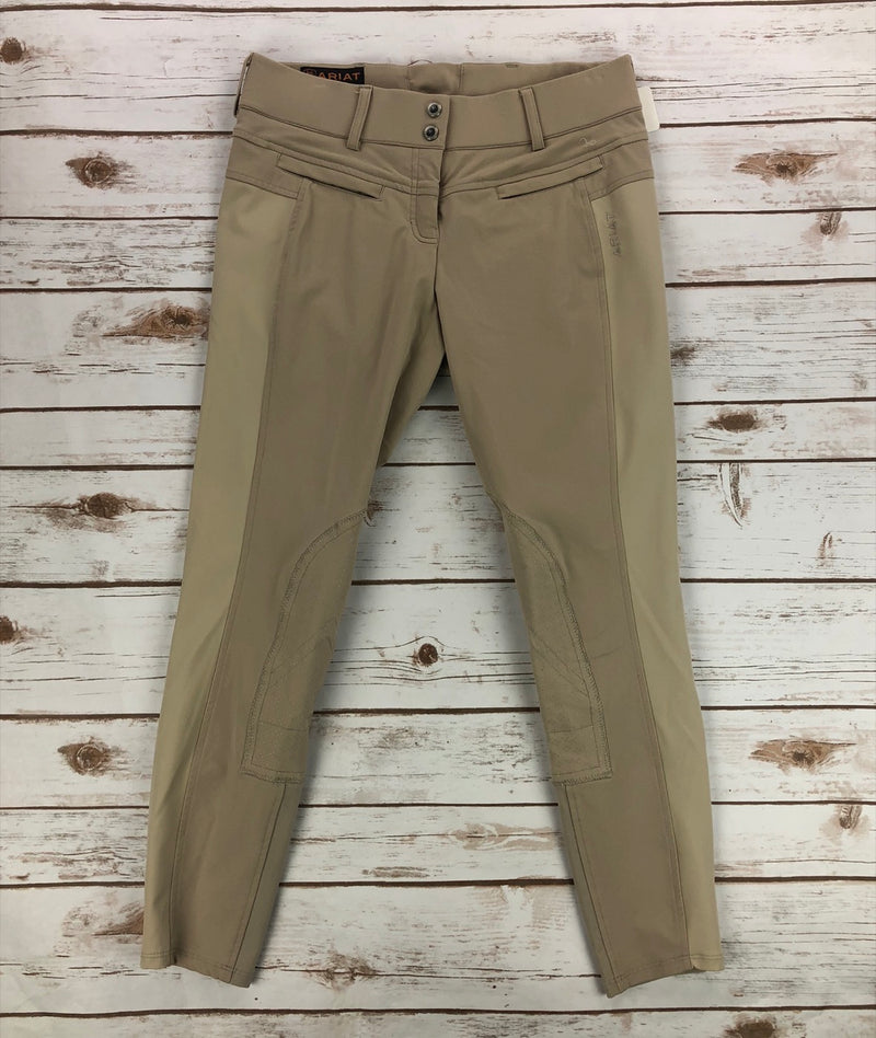 Ariat Triumph Knee Patch Breeches in Tan - Women's 26R