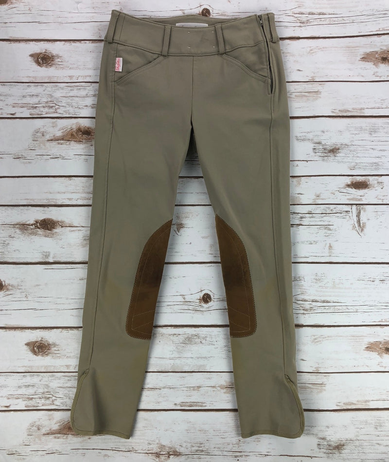 Tailored Sportsman Trophy Hunter Side-Zip Breeches in Tan - Children's 12R