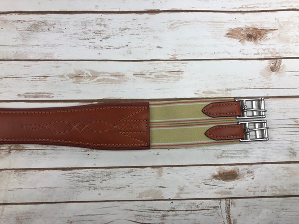 Edgewood Fancy Stitch Leather Overlay Girth in Newmarket - 54""